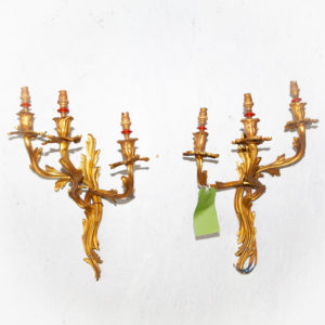 3 arm louis XV wall sconce