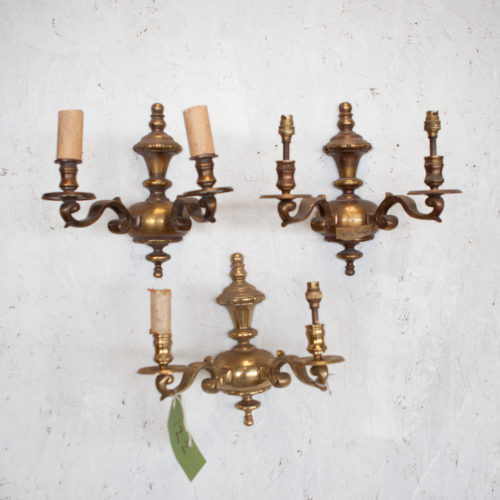 3 set Georgian wall lights
