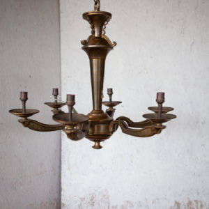 art deco 6 arm chandelier