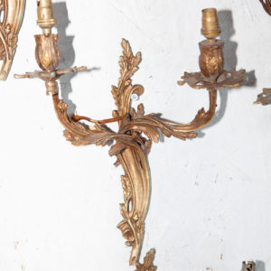 louis style cast brass sconce